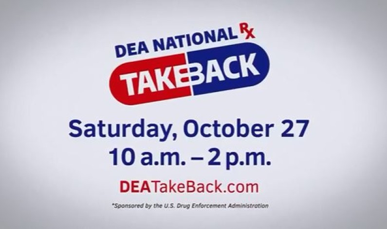 2018 drug take-back event, find a location near you