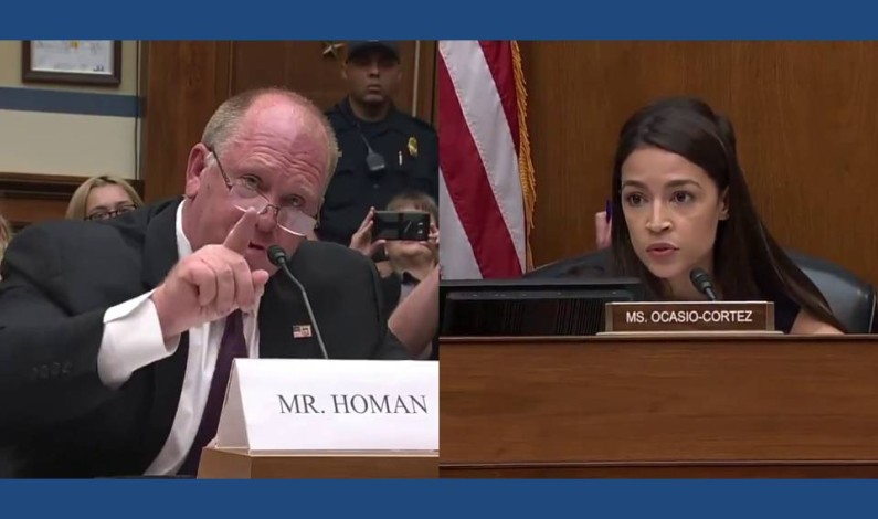 AOC stumbles over her words as former ICE Director sets her straight