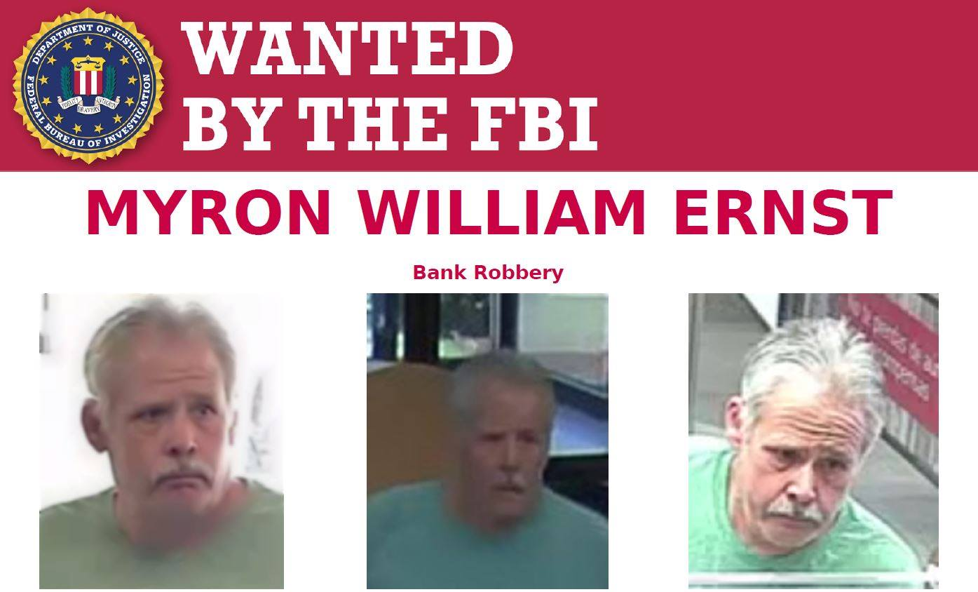 Myron William Ernst, bank robbery, armed robbery, florida, alabama