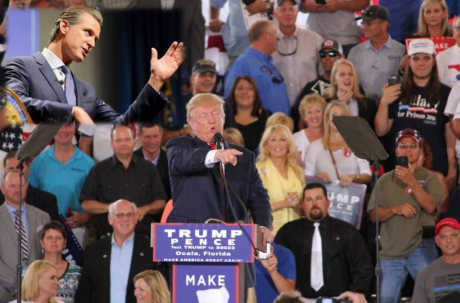 newsom, donald trump, voting, the daily lash, california