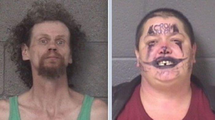 """""""Joker"""" and her man taken to mental hospital after 5-hour standoff, arrested"""