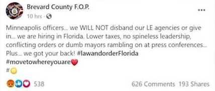 FOP, florida corruption, cops in florida, ivy