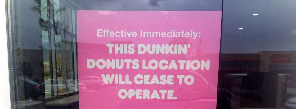 dunkin donuts closing, daily lash, the daily lash, business