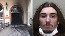 Florida man smiles, laughs after he crashed into packed church, set it on fire