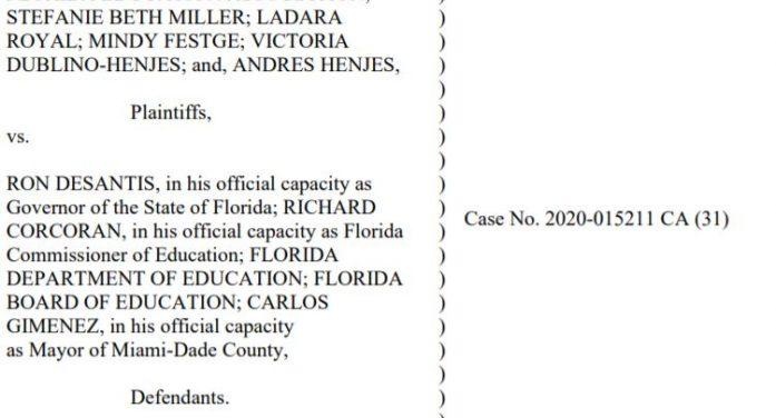 Florida Education Association files emergency order against Gov. Ron DeSantis to keep schools closed