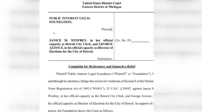 dead people voting in michigan, voter fraud, lawsuit