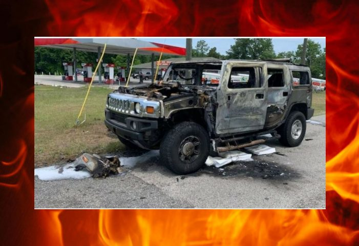 Florida man's load catches Hummer on fire after lighting cigarette